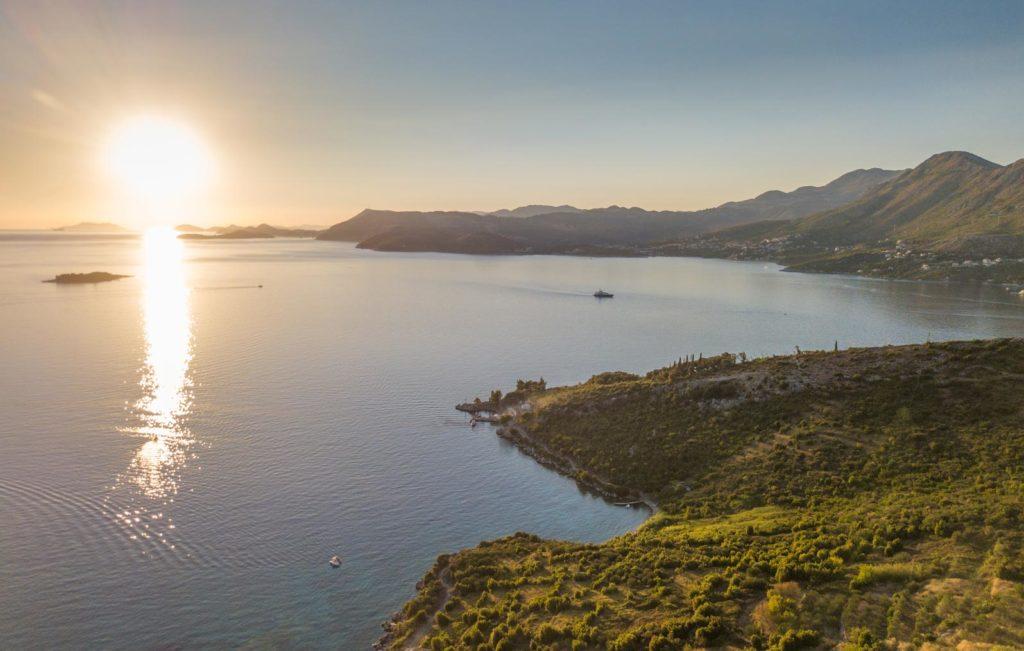 Villa Apartment Capri, Cavtat Bay, Dubrovnik Riviera (21) Aerial