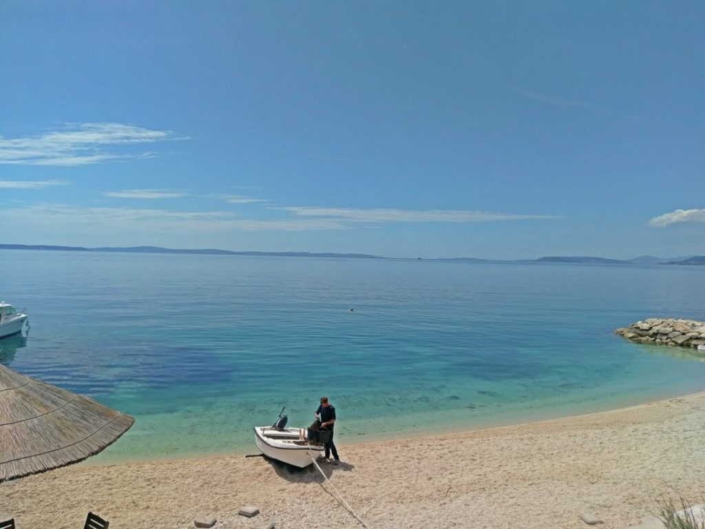 Podstrana Beach, Podstrana bay, Split Riviera