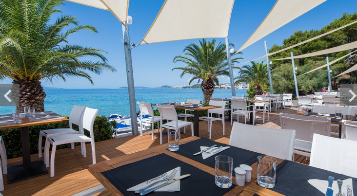 Le Meridien lav, Restaurant 7 Palms, Podstrana Bay, Split riviera - Copy