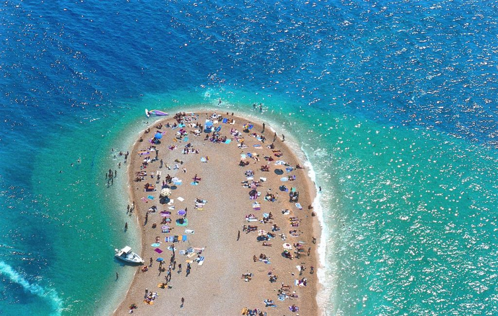 Zlatni Rat Beach, Bol, Brac Island, by Boris Kragic, via Croatian National Tourist Board