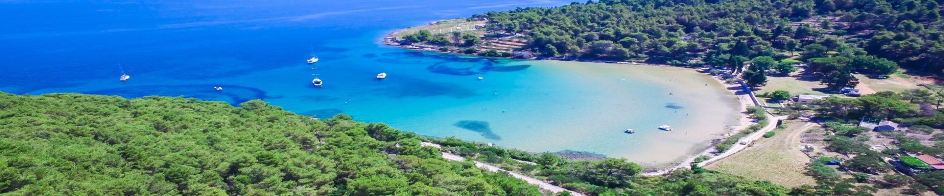 Lovrecina Bay Beach Sandy Beach, Brac Island (1)