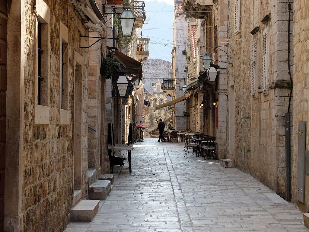 Dubrovnik old town prijeko street