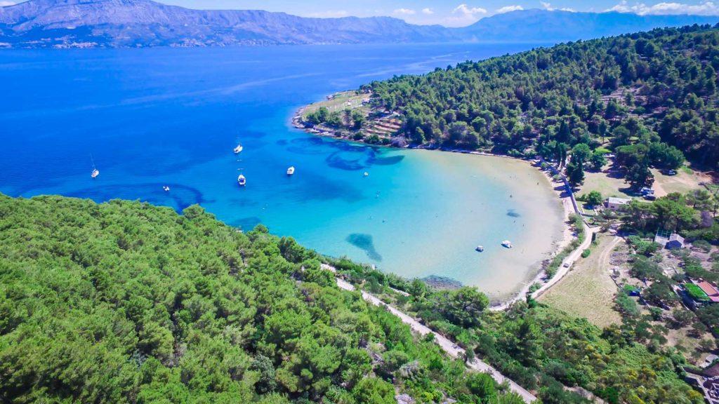 Lovrecina-Bay-Beach-Sandy-Beach,-Brac-Island-(1)