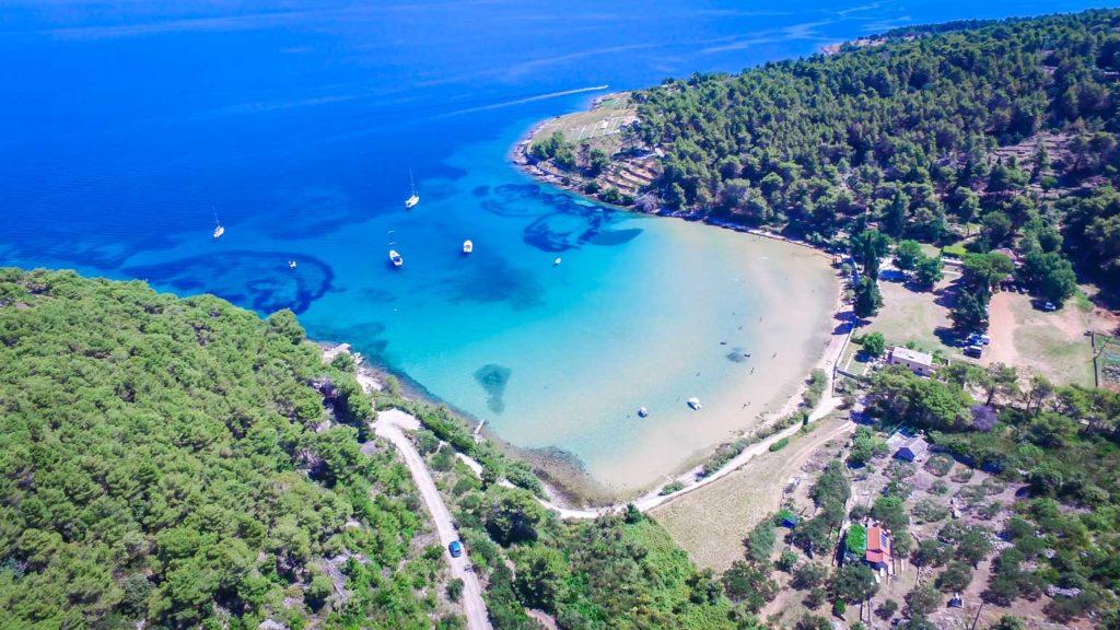 Lovrecina-Bay-Beach-Sandy-Beach,-Brac-Island-(3)