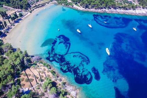 Lovrecina Bay Beach Sandy Beach Brac Island TH