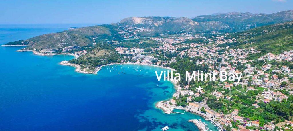 Villa Mlini Bay, Mlini Bay, Dubrovnik Riviera Aerial 3