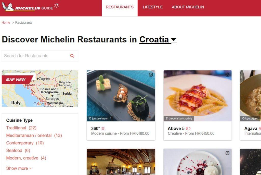 Croatia Michelin Guide 2