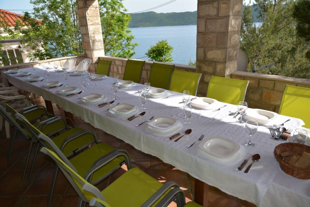 Villa Slano, Slano Bay, Dubrovnik Riviera - dining terrace 1