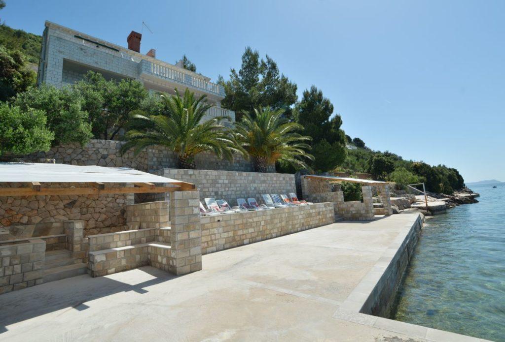 Villa Slano, Slano Bay, Dubrovnik Riviera - sea edge area