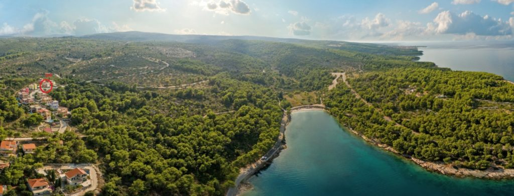 Villa Cha Cha Aerial 3 4, Splitska Bay, Brac Island