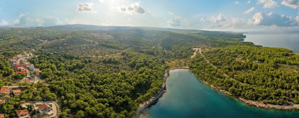 Villa Mambo Aerial, Splitska Bay, Brac Island