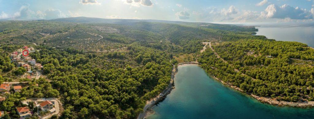 Villa Salsa Aerial, Splitska Bay, Brac Island