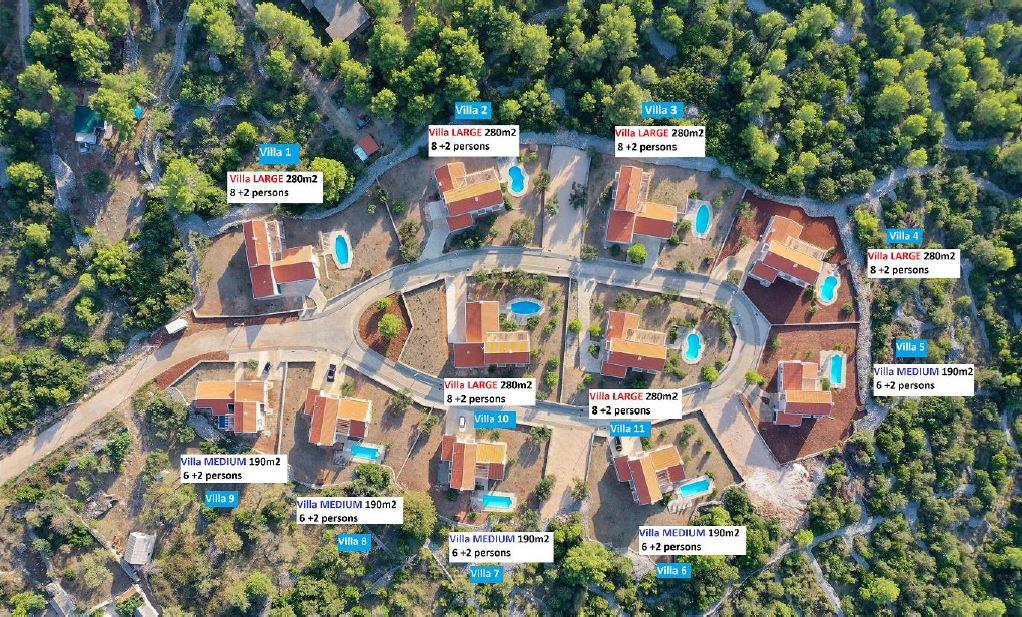 Villa Plan - Starigrad Villas, Starigrad, Hvar Island